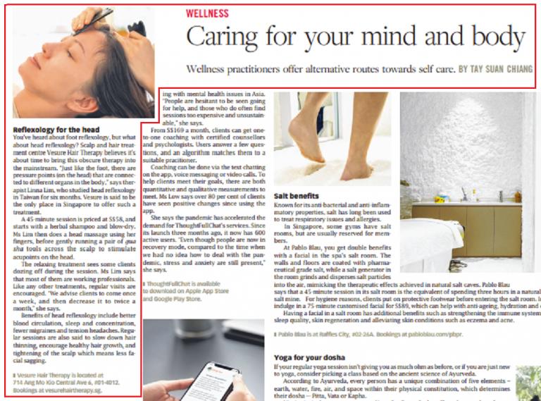 Newspaper QXTL Head Reflexology